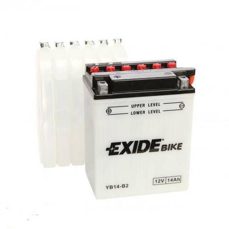 EXIDE 6СТ-14Аз (EB14-B2) Мото аккумулятор, фото 2
