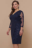 Женское платье больших размеров с пайетками Лария-Б д/р