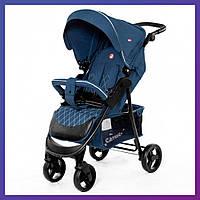 Коляска прогулочная CARRELLO Quattro CRL-8502 Denim Blue + дождевик М | Коляска прогулянкова Карело Кватро