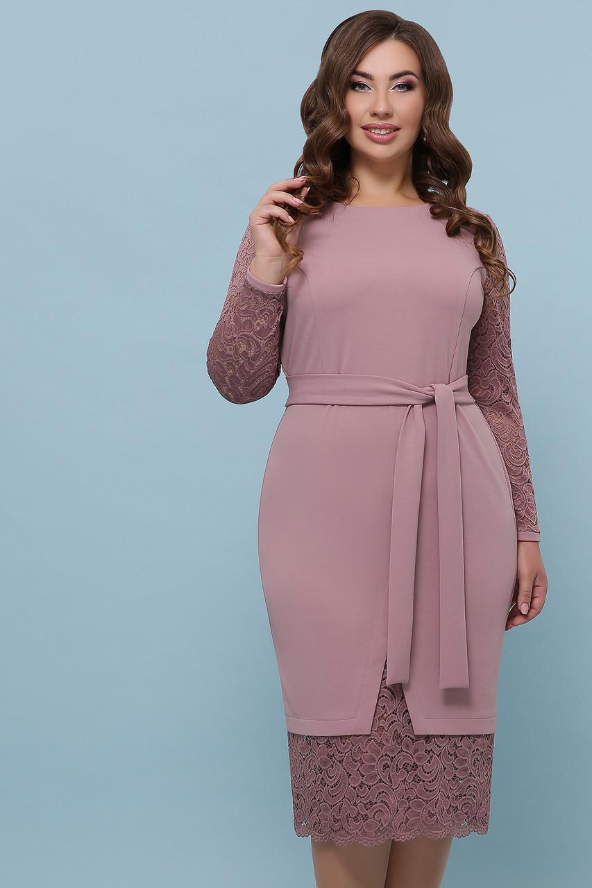 Женское платье лиловое Марика-Б д/р