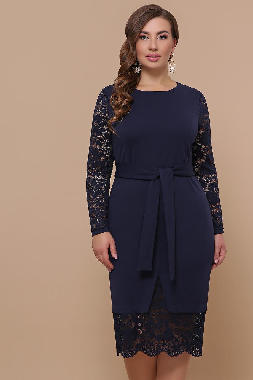 Женское платье синие Марика-Б д/р