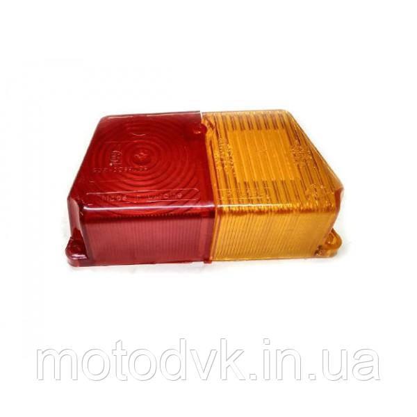 Стекло поворота Днепр МТ коляски заднее (красно желтое)