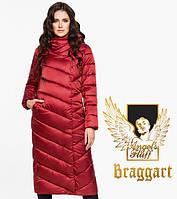 Воздуховик Braggart Angel's Fluff 31016 | Зимняя женская куртка рубиновая, фото 1