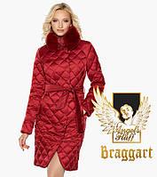 Воздуховик Braggart Angel's Fluff 31030 | Зимняя женская куртка рубиновая, фото 1