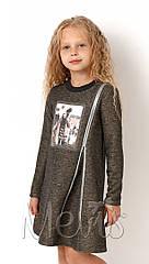 Платье  туника для девочек tm Mevis 3078 Размеры 122- 146