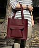 161-5 Натуральная кожа, Сумка женская черная кожаная сумка, А-4 + Женская кожаная сумка на плечо черная, фото 5
