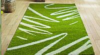 Зеленый ковер с длинным ворсом Shaggy Bamboo