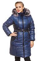 Женская зимняя удлиненная куртка., фото 1