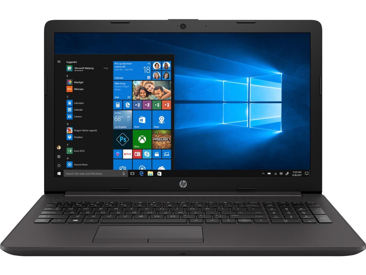 """Ноутбук HP 250 G7 (6MS19EA); 15.6"""" FullHD (1920x1080) TN LED матовый / Intel Core i3-7020U (2.3 ГГц) / RAM 4 ГБ / SSD 128 ГБ / nVidia GeForce MX110, 2"""