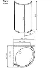 Душевая кабина Radaway Design Diana, фото 2