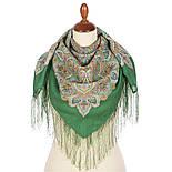 Соловушка 1893-9, павлопосадский платок шерстяной  с шелковой бахромой, фото 2