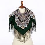 Соловушка 1893-10, павлопосадский платок шерстяной  с шелковой бахромой, фото 2