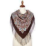 Соловушка 1893-17, павлопосадский платок шерстяной  с шелковой бахромой, фото 8