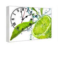 Часы на холсте с принтом Лайм 29х41 см