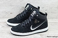 Мужские зимние кроссовки Nike (Реплика) (Код: Крипс чер/нуб  ) ►Размеры [40,41,42,43,44,45], фото 1