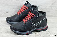 Мужские кожаные зимние кроссовки Nike (Реплика) (Код:  117 ч.т.  ) ►Размеры [40,41,42,43,44,45], фото 1