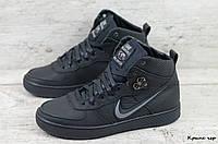 Мужские кожаные зимние кроссовки Nike (Реплика) (Код: Крипс чер  ) ►Размеры [40,41,42,43,44,45], фото 1