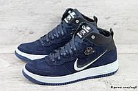 Мужские зимние кроссовки Nike (Реплика) (Код: Крипс син/нуб  ) ►Размеры [40,41,42,43,44,45], фото 1