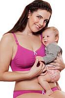 Бесшовный топ для беременных и сна. Розовый Anita