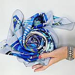 10121 платок шелковый (крепдешин) 10121-14, павлопосадский платок (крепдешин) шелковый с подрубкой, фото 9