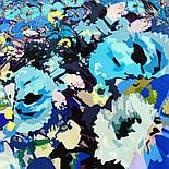 10121 платок шелковый (крепдешин) 10121-14, павлопосадский платок (крепдешин) шелковый с подрубкой, фото 5