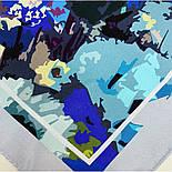 10121 платок шелковый (крепдешин) 10121-14, павлопосадский платок (крепдешин) шелковый с подрубкой, фото 4