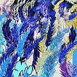 10121 платок шелковый (крепдешин) 10121-14, павлопосадский платок (крепдешин) шелковый с подрубкой, фото 6