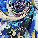 10121 платок шелковый (крепдешин) 10121-14, павлопосадский платок (крепдешин) шелковый с подрубкой, фото 8