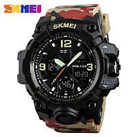 Skmei 1155 B hamlet красный камуфляж большие мужские спортивные часы