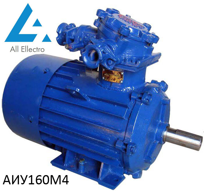 Взрывозащищенный электродвигатель АИУ160М4 18,5 кВт 1500об/мин