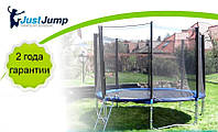 Батут Just Jump 305 см с сеткой и лесенкой с усиленными двойными ножками, фото 1