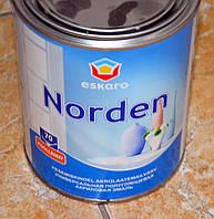Особо прочная акриловая полуматовая краска Norden 30 Еskaro 0,9 л