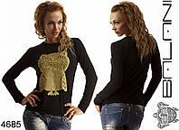 Женский свитшот с золотой  совой, фото 1