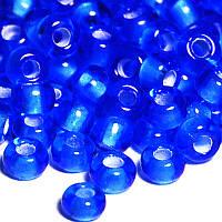 Бісер Preciosa Чехія №35056 синій, с профарбованою серединкою