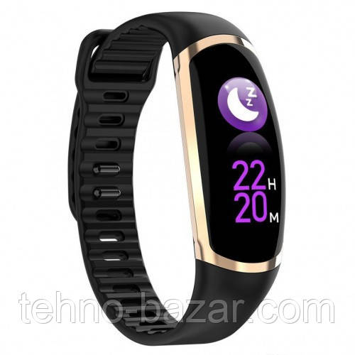 Фитнес-браслет R16 Black/Gold тонометр, пульсометр, шагомер,калории, для iPhone и Android