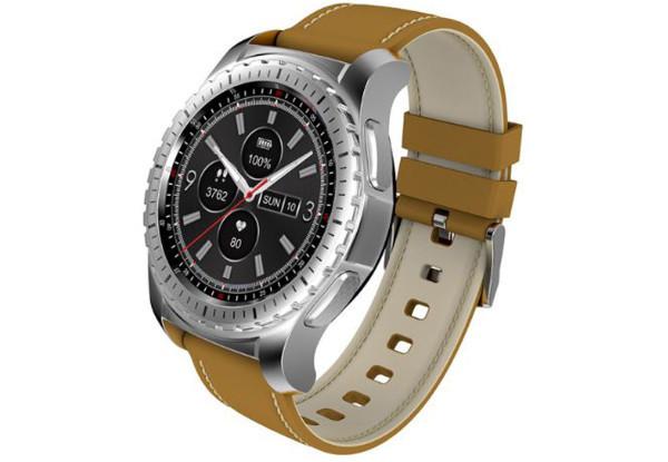 Умные часы Smart Watch KingWear KW28 Silver/Brown Bluetooth 4.0 350 мАч