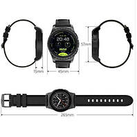 Умные часы Smart Watch KingWear KW28 Silver/Brown Bluetooth 4.0 350 мАч, фото 8