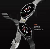 Фитнес-браслет VK6 SN58 Steel Black тонометр, пульсометр, шагомер,калории, для iPhone и Android, фото 7