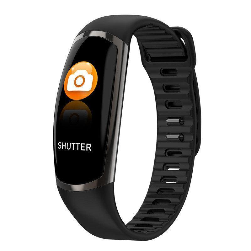Фитнес-браслет R16 Black тонометр, пульсометр, шагомер,калории, для iPhone и Android