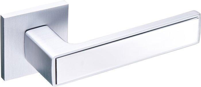 Дверні ручки Gavroche NIKEL MSCB/CP (ітілійський сатин/хром)