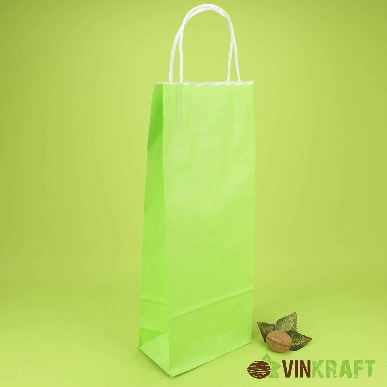 Пакет паперовий з ручками 150*90*400 (100г/м2) (3 кг), салатовий