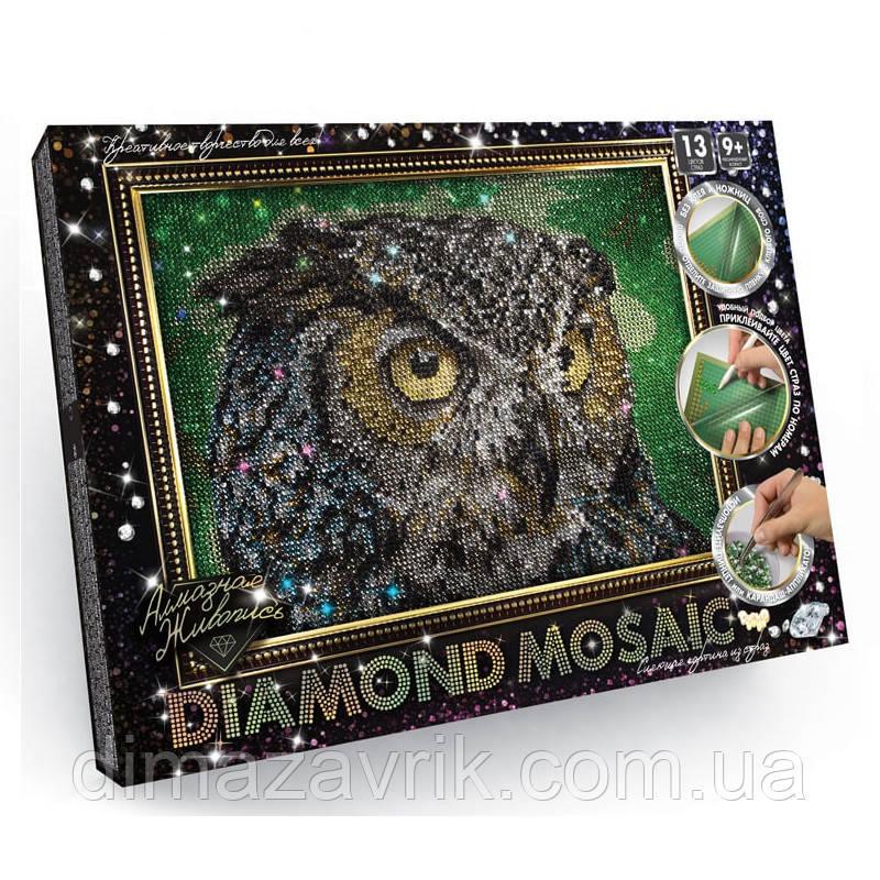 "Набор для творчества ""Diamond Mosaic"" Филин А4 формат"