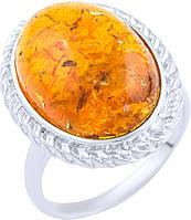 Серебряное кольцо SilverBreeze с янтарем (1891179) 18 размер