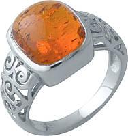 Серебряное кольцо SilverBreeze с янтарем (1912799) 17 размер