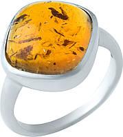 Серебряное кольцо SilverBreeze с янтарем (1922224) 18 размер