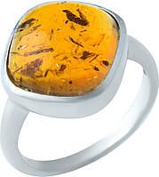 Серебряное кольцо SilverBreeze с янтарем (1922224) 16.5 размер