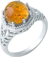 Серебряное кольцо SilverLine с янтарем (1922231) 17 размер