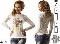 Женский свитшот с желтой надписью Chanel, фото 1