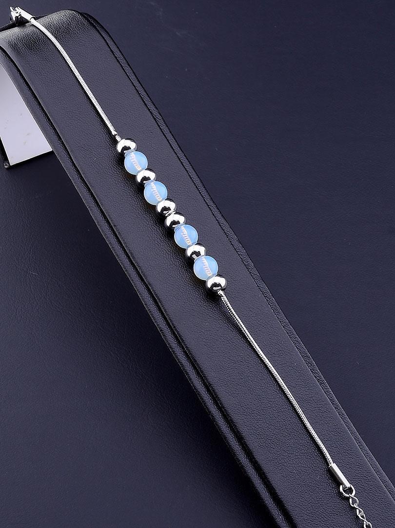 Браслет 'Stainless Steel' Лунный камень 18 см.