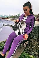 Женский спортивный костюм FREEVER 91385 фиолетовый